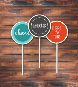 New Year's Eve Cupcake Toppers - LaStudioprints via etsy.com