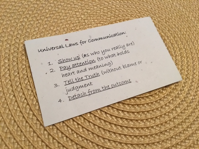 Universal Laws for Communication